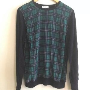 Equipment sweater - silk and wool, blue, green